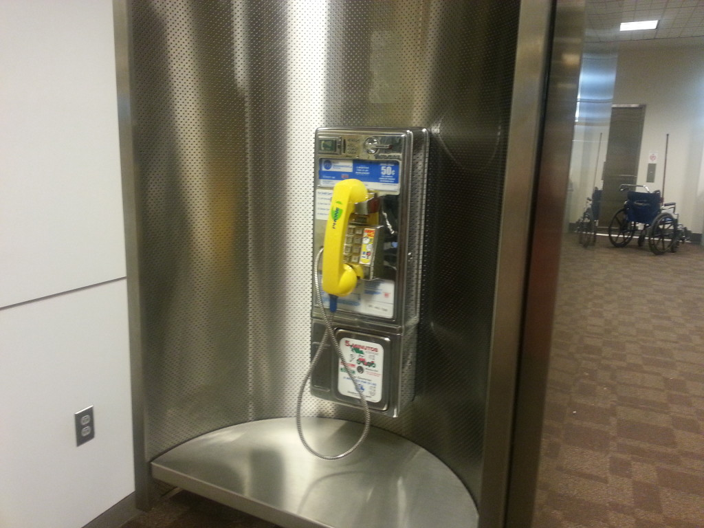 Old Pay Phone at the George Bush Airport