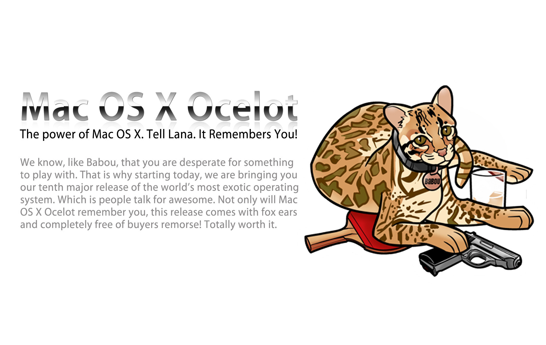 Mac OS X Ocelot – What I'm Hoping For During The WWDC Announcement